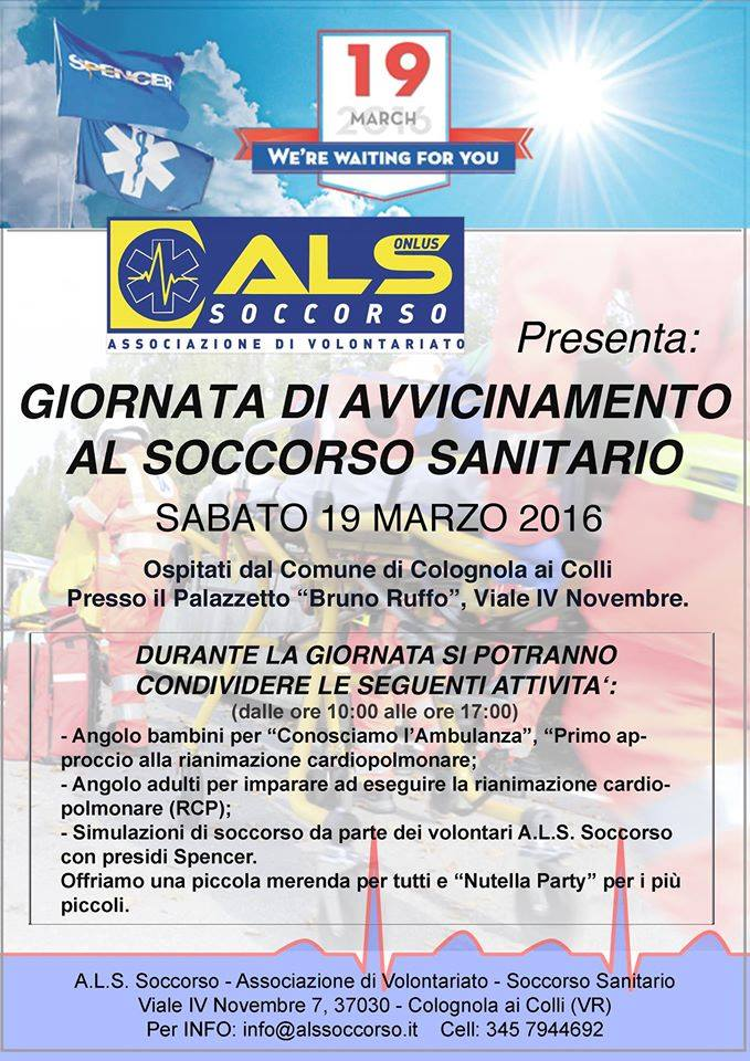 Giornata di avvicinamento al Soccorso Sanitario - SPENCER 13.03.2016_1