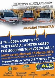 Corso Soccorritori Marzo 2016