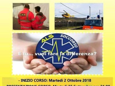 CORSO ASPIRANTI SOCCORRITORI VOLONTARI 2018