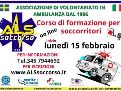 Corso aspiranti soccorritori volontari Febbraio 2021